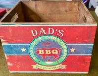 'DAD'S BBQ' VINTAGE STYLE WOODEN CRATE